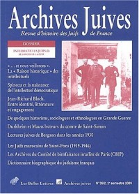 Archives juives, N° 36/2