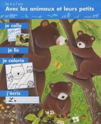Avec les animaux et leurs petits, je colle, je lis , je colorie, j'écris : Les ours