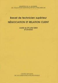 Négociation et relation client : Brevet de technicien supérieur