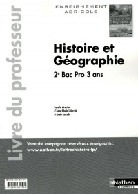 Histoire-Geographie Deuxième Bac Pro Agricole Professeur 2011