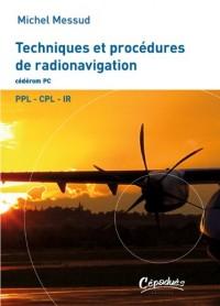 Techniques et procédures de radionavigation - PPL - CPL -IR - Cédérom pour PC sous windows