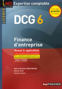 Finance d'entreprise DCG 6 : Manuel et applications