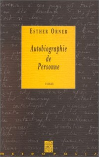Autobiographie de personne