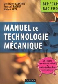 Manuel de technologie mécanique