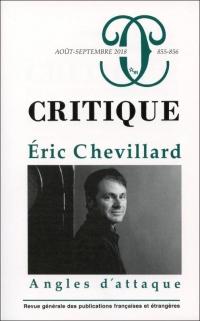 Critique 855-856  Eric Chevillard Angles d'Attaque