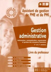 Gestion administrative, livre du professeur : Information, communication, organisation et gestion des ressources humaines 1ère et 2e années