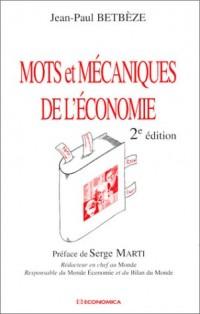 Mots et mécaniques de l'économie