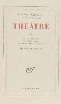 Théâtre, volume 3