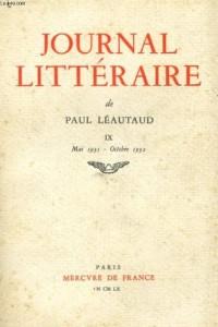 Journal littéraire (Tome 9-1931-1932)