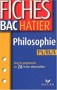 Fiches Bac Hatier : Philosophie, Terminale L, ES, S