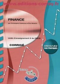 Finance UE 2 du DSCG : Corrigé