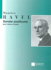 SALABERT RAVEL M. - SONATE POSTHUME - VIOLON ET PIANO Partition classique Cordes Violon