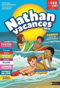 Nathan Vacances 2017 primaire - Du CE2 vers le CM1 - Cahier de vacances
