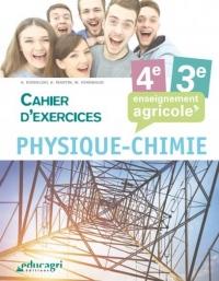 Physique chimie 4e et 3e Enseignement agricole : Cahier d'exercices