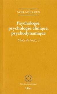 Psychologie Psychologie Clinique Psychodynamique Choix de Texte 1