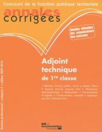 Adjoint technique de 1re classe
