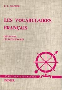 Vocabulaires français. tome 1 les difini
