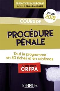 Cours de procédure pénale : Tout le programme en 50 fiches