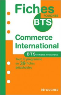 Fiches BTS : Commerce international