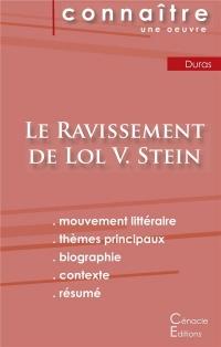 Fiche de Lecture le Ravissement de Lol V Stein de Marguerite Duras Analyse Litte