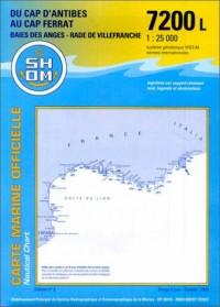 Carte marine : Du Cap d'Antibes au Cap Ferrat - Baie des Anges - Rade de Villefranche