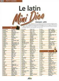 Le latin : Mini Dico français-latin