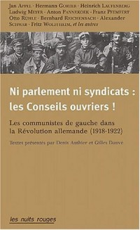 Ni parlement, ni syndicats : Les conseils ouvriers !