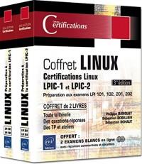 Linux - Coffret de 2 livres - Préparation aux certifications LPIC-1 et LPIC-2 (examens LPI 101, 102, 201, 202) (3e édition)