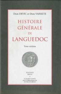 Histoire Generale de Languedoc T.16