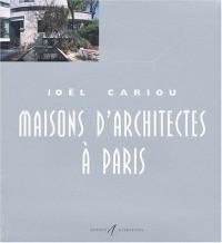 Maisons d'architectes à Paris