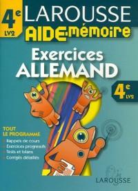 Larousse Aide-Mémoire Allemand 4e LV2 : Exercices