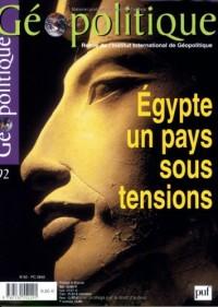 Géopolitique N 92 2005 Egypte  un Pays Sous Tensions