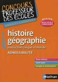 Histoire-géographie Instruction civique et morale Admissibilité : Annales corrigées CRPE