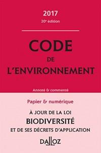 Code de l'environnement 2017, commenté - 20e éd.