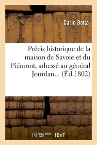 Precis hist de la maison de savoie  ed 1802