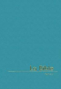 Bible Semeur 2000 miniature reliée PU, turquoise, tranche dorée
