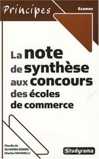 La note de synthèse aux concours des écoles de commerce