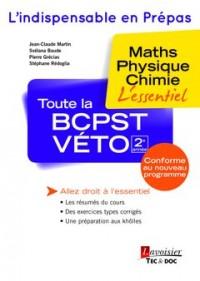 Toute la BCPST-Véto 2e année : Maths, physique, chimie