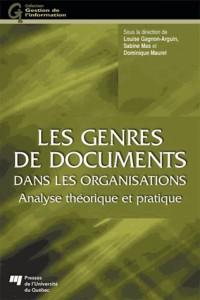 Genres de Documents Dans les Organisations