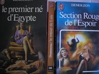alain demouzon - lot 3 livres : le retour de luis - section rouge de l'espoir - le premier né d'égypte