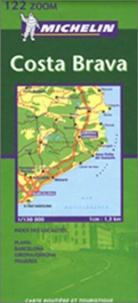 Carte routière et touristique : Costa Brava, N°112