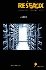 Réseaux, N° 180, Juillet-août 2013 : Varia