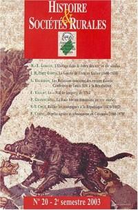 Histoire & Sociétés Rurales, N° 20 - 2e semestre