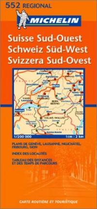 Carte routière : Suisse Sud-Ouest, N° 11552