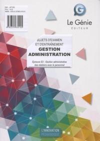 Sujets d'entrainement et d'examen-bac pro gestion administration (pochette)