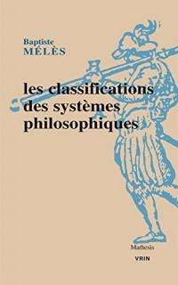 Les classifications des systèmes philosophiques