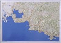 Carte en relief : Environs de Marseille 79 X 111