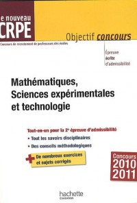 Mathématiques, Sciences expérimentales et technologie : Le nouveau CRPE