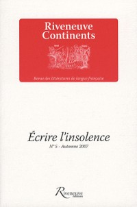 Ecrire l'Insolence N5 Automne 2007