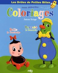 Belle la coccinelle et Barnabé le scarabée : Coloriages sans déborder